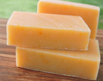 GINGER CLEAN Natural Soap - Handcrafted Essential Oil Soap - Ginger, Lemon, and Grapefruit