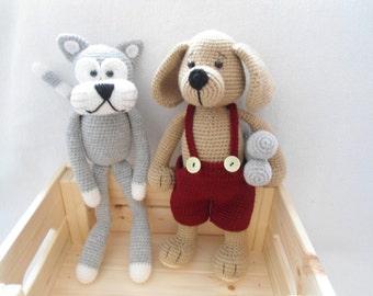 Lovely Pet crochet pattern (cat/puppy)
