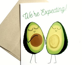 Baby Announcements Cards - Pregnancy Announcements Cards - Gender Neutral - We're Having a Baby - Pregnancy Reveal to family - Folded Cards