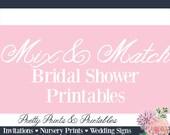 Mix & Match Bridal Shower Games (FOUR)