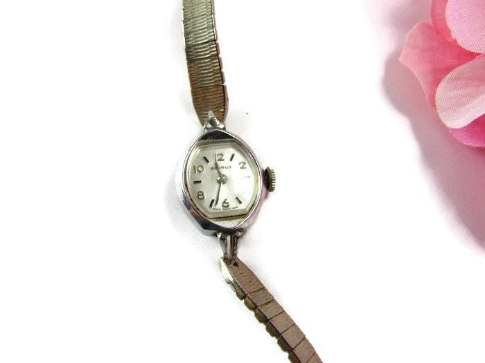 Benrus Vintage Ladies Watch 10k R G P Bezel As By