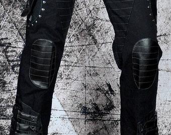 Cryoflesh Rivethead Strap Cybergoth Cyberpunk Industrial Moto EBM Gothic Pants