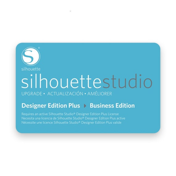 Silhouette Studio Designer Edition Upgrade Download Card