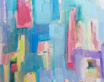 Fata Portale 2..Original Abstract Oil Painting