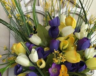 Wreat, Flower Arrangment, Wall Decor