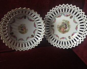 Country Romantic VictorianTrinket bowl and dish