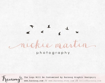 Bird Logo, Birds Logo, Photography Logo, Boutique Logo, Custom Logo, Premade Logo, Custom Branding, Custom Watermark, Logo Design