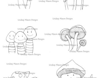 "Digital download - ""Fungi Fun"" A4 sheet"