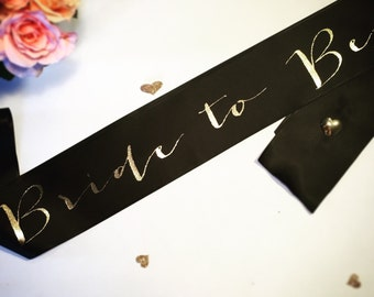 Bride to be sash- bride sash- bachelorette party sash