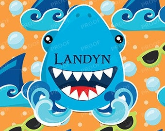 Shark Personalized Notebook Steno Pad or Notepad Journal Orange