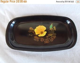 sale Vintage Couroc Of Monterey Flower Tray