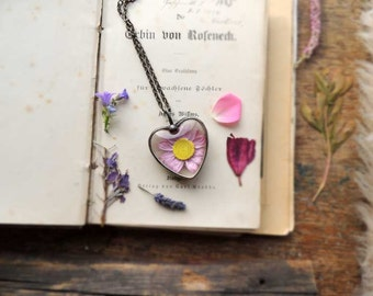 Dry flowers terrarium necklace, boho, wedding, bridesmaids necklaces, sphere necklace, for all nature lovers, MARIAELA,