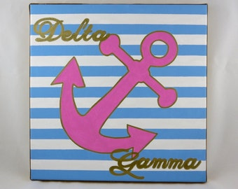 hand painted Delta Gamma mascot12x12 canvas OFFICIAL LICENSED PRODUCT