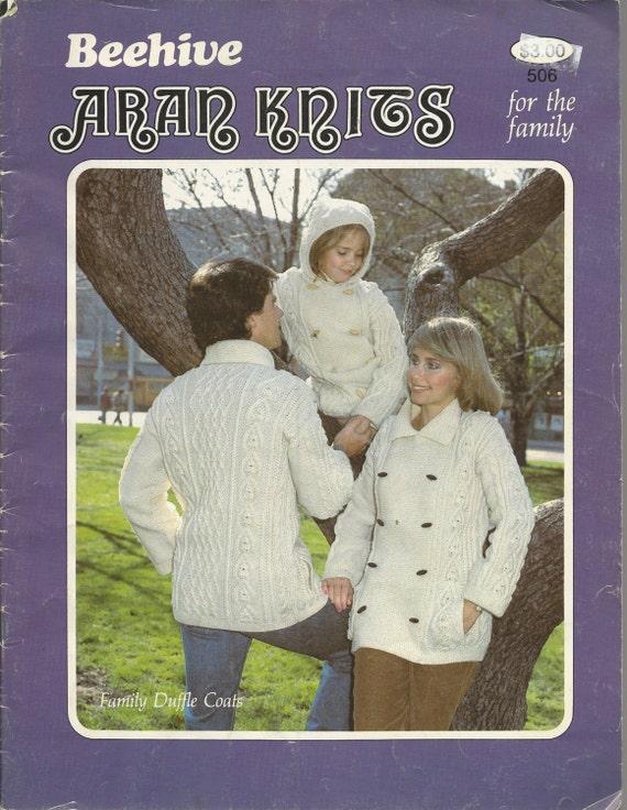 Irish Knitting Pattern Books : Beehive Knitting Pattern Book ARAN IRISH FISHERMAN Knits