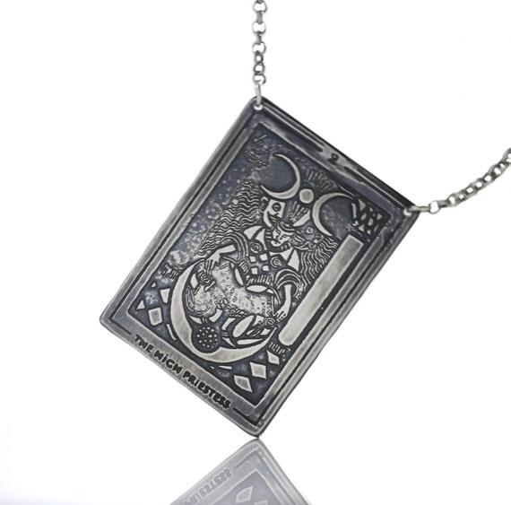 Tarot Card Mix and Match Pendants, Sterling Silve Etched Tarot Card Pendant, Handmade Tarot Card Necklace, Tarot Card Metal Necklace