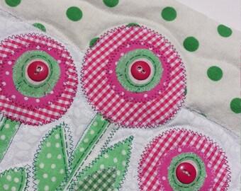 Polka dot garden wall hanging - pink