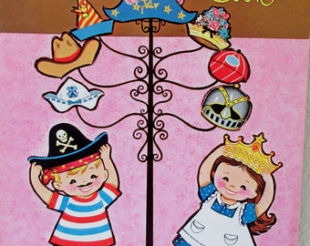 Vintage Whitman FUN Hats Punch Out Book Unpunched 1962 ** Epsteam