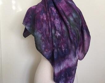 Mossland Scarf- Purple, Blue and Green