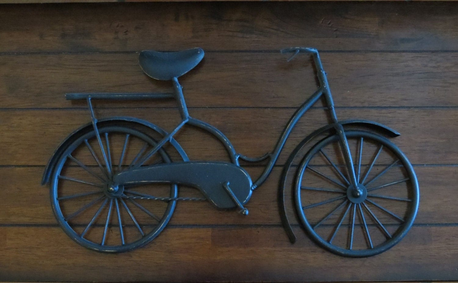Metal Wall Decor Bicycle : Bike wall decor black or pick your color bicycle metal