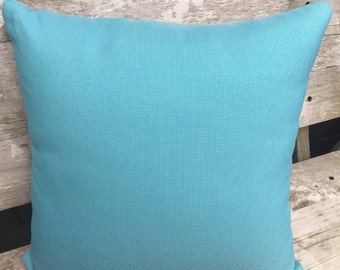 50cm Square Outdoor Cushion Cover/pillow in Warwick Coolum Outdoor Fabric in Noosa Turquoise Aqua