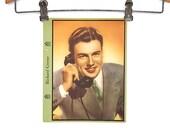 Hollywood Movie Star Poster - Richard Greene - Dixie Lid Ice Cream Premium - Vintage Movie Collectible - Movie Decor - 20th Century Fox