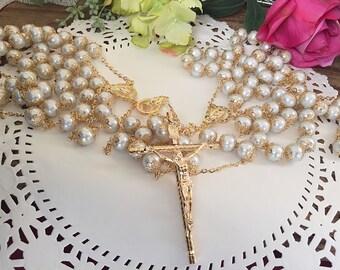 Swarovski Crystal Pearls wedding lasso/lasso de boda en perlas Blancas / wedding laso/ lazo de Boda color ivory/ extra long wedding lasso