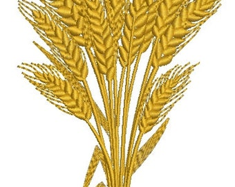 sheaf of wheat - set of three  Machine Embroidery Designs