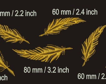 feathers Machine Embroidery designs six designs