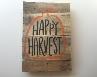 Happy Harvest Wooden Sign
