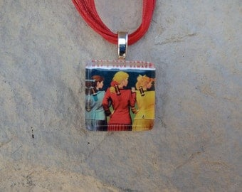 Broadway Musical Heathers Glass Pendant and Ribbon Necklace