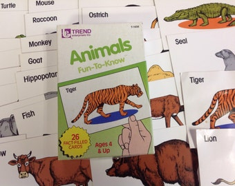 TREND ENTERPRISES ANIMALS fun-to-know cards
