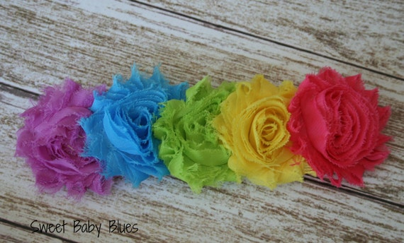 Shabby Chic Rainbow Baby Headband