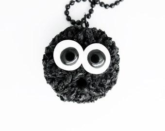 black spot charm necklace
