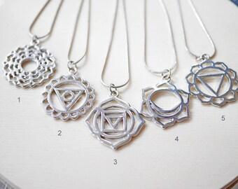 Symbol geometric metal necklace