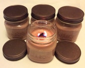 Wood wick soy candle in 8 oz. rustic mason jar