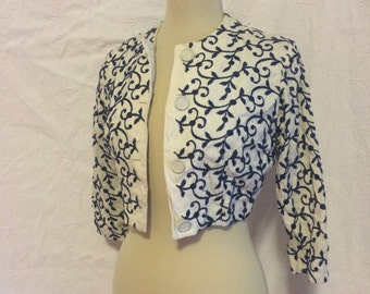 Vintage ebroidered shrug