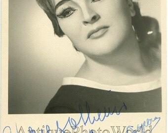 Ina Delcampo opera singer vintage hand signed photo
