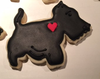 Black Scotty Dogs Scottie Dogs Sugar Cookie