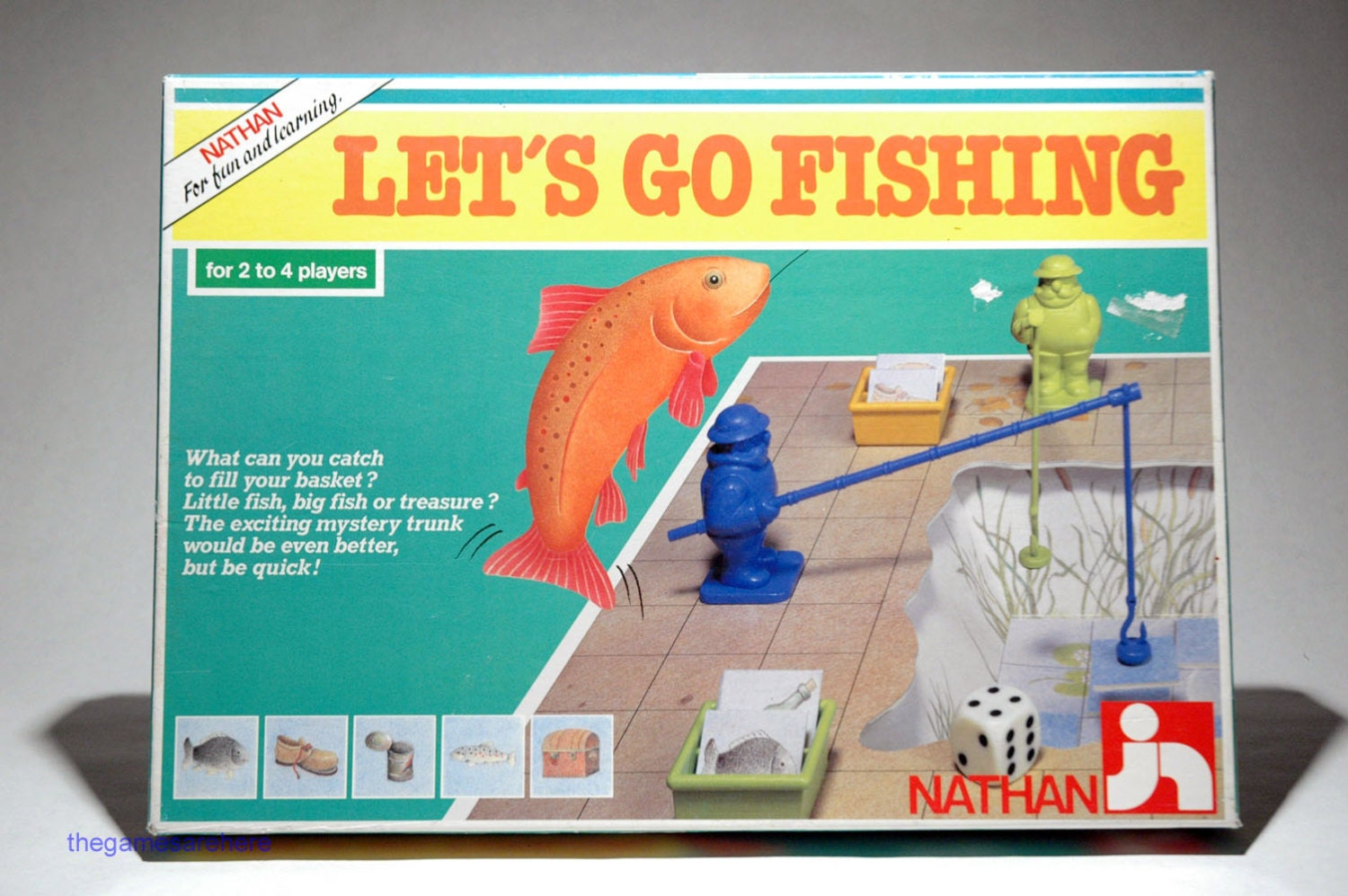 Let 39 s go fishing game from nathan games 1986 complete for Lets go fishing
