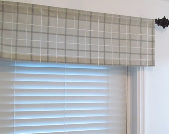 Grey Check Curtains Etsy