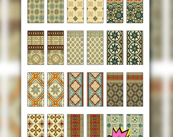 Printable Digital Domino Collage Sheet - Printable Tiles for Domino Jewelry - Domino Craft Projects Printable