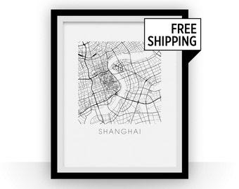 Shanghai Map Print