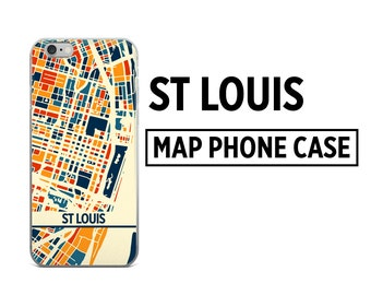 St Louis Map Phone Case - St Louis iPhone Case - iPhone 6 Case - iPhone 5 Case - iPhone 7 Case