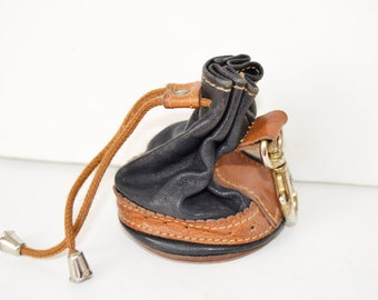 mini leather pouch key