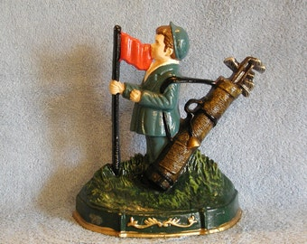 Cast Iron Doorstop, Golfing Theme