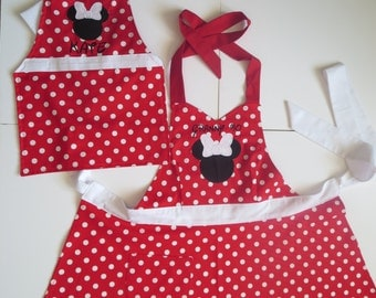 Minnie Mouse- Mother/Daughter Apron Set