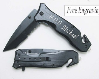 2 Pcs Groomsmen Rescue pocket Knives personalized Rescue Pocket knife Wedding Best Man Gifts.