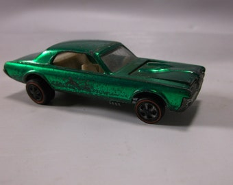 Vintage Mattel Hot Wheels Red Line Custom Green Cougar Frame Marked 1968.epsteam