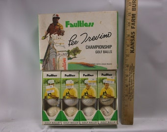 EARLY 1960's Lee Trevino Faultless golf balls Vintage Golf Sports Collectible -Full New Box!!!,epsteam