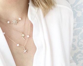 Gold-filled Necklaces, Sold Separately , 10%Off Set, Dainty Necklace, Charm Necklace, Nautical Necklace